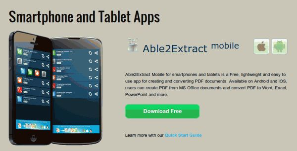 Transforming pdf to text, word, excel ... from Android and iOS