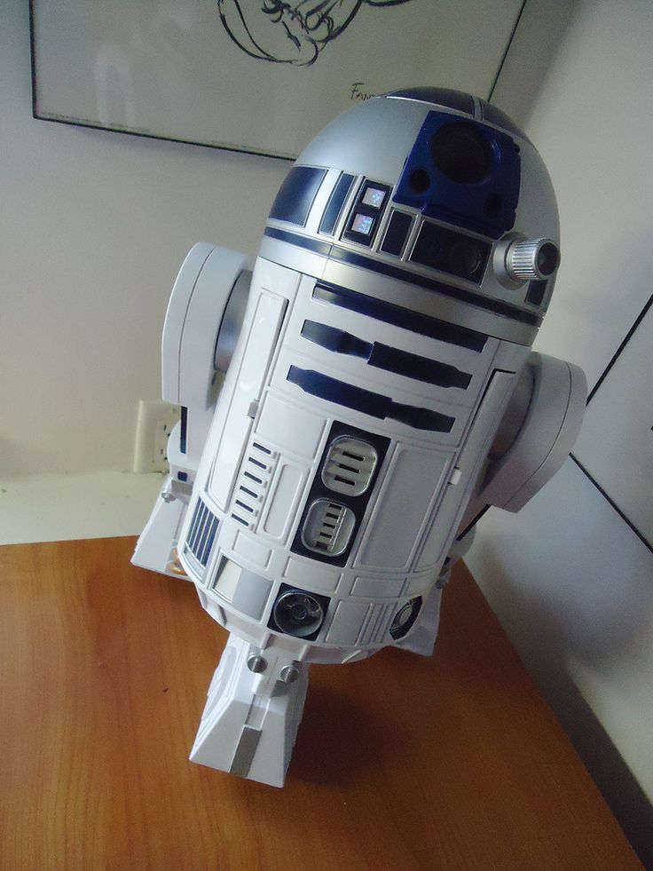 My fully-functioning voice-controlled R2D2 droid stands on guard in the one corner of my studio. He actually has a security alarm as part of his features, so intruders beware!