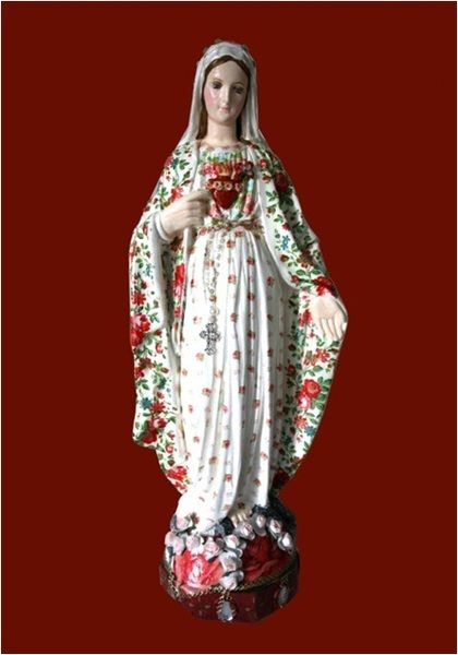 virgen decoupage