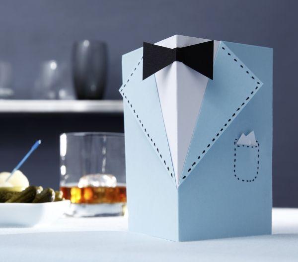 einladung f r den herrenabend karte papier diy. Black Bedroom Furniture Sets. Home Design Ideas