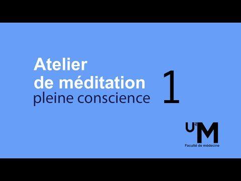 Atelier 1 : Introduction à la méditation et s'ouvrir à l'expérience de l'instant présent - YouTube