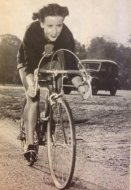 Eileen Sheridan, one of the best-known, and best-paid, cyclists in Britain in the 1950