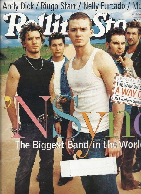 NSYNC Rolling Stone Aug 2001 Justin Timberlake Andy Dick Mogwai Nelly Furtado