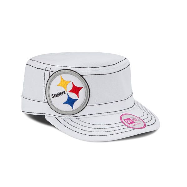 2a65f05ac Pittsburgh Steelers Women's New Era White Chic Cadet Military Hat -  Official Online Store | Steelers Gear - Women | Pittsburgh Steelers,  Pittsburgh steelers ...