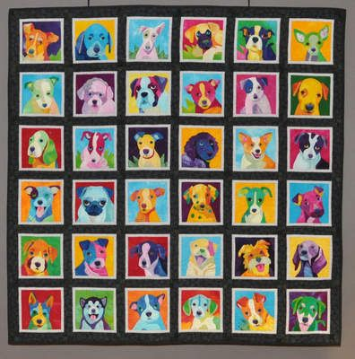 Dog Quilt Patterns | Every quilt was a masterpiece and inspiration. Here are a few more I ...