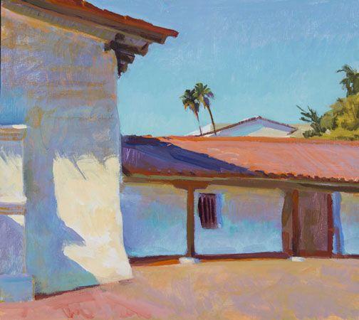 Marcia Burtt  Noon, Presidio  acrylic 18×20 inches