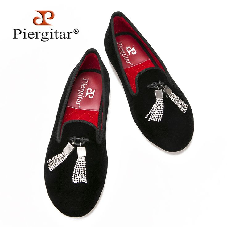 Women velvet shoes with rhinestone tassel new fashion wedding and party loafers women casual flats size US 5-11 free shipping