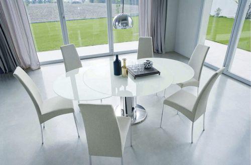 Tavolo moderno / in vetro / rotondo / allungabili GIRO BONTEMPI CASA