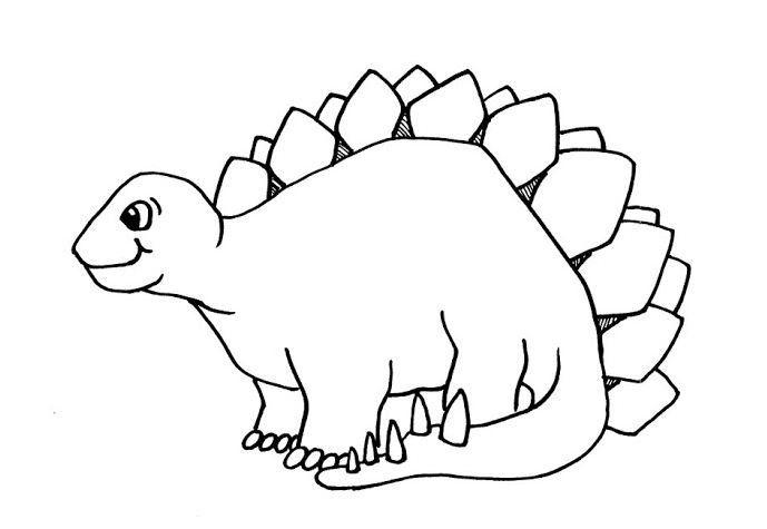 Printable Stegosaurus Dinosaur Coloring Pages Kids ...