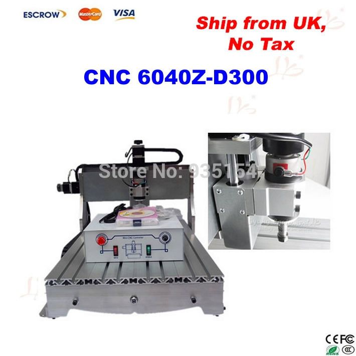 1200.00$  Watch here - http://ali0fg.worldwells.pw/go.php?t=32241460270 - mini cnc 6040 Z-D300, cnc milling machine with 300w spindle engraving machine, free tax to EU countries 1200.00$