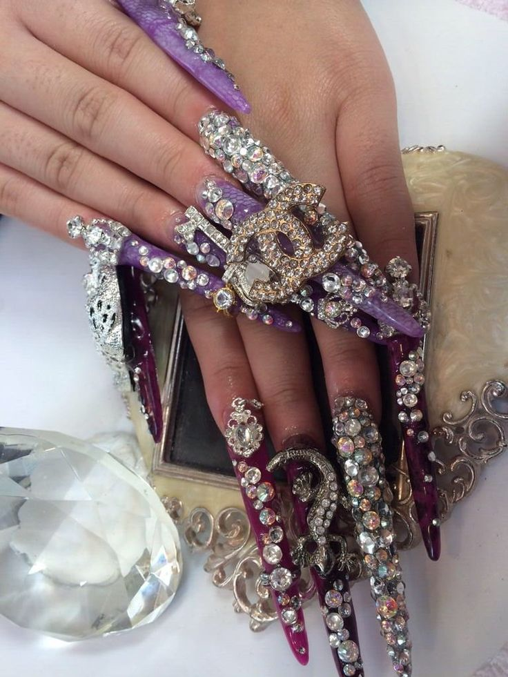 Gyaru Nails | gyaru nails | Pinterest | Gyaru and Nails