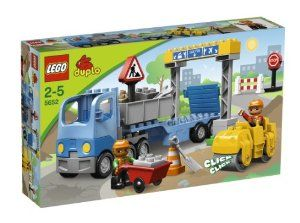 LEGO Duplo LEGOVille Road Construction 5652 by LEGO. $74.94. LEGO Duplo LEGOVille Road Construction 5652. A new motorway is under construction and the truck driver has his truck packed with everything needed for the job. A construction worker is busy rolling the new pavement flat with the road roller and another worker is hauling bricks in the wheelbarrow. Set includes two DUPLO figures, two construction vehicles and a lot of accessories. Set Contains 27 Piece...
