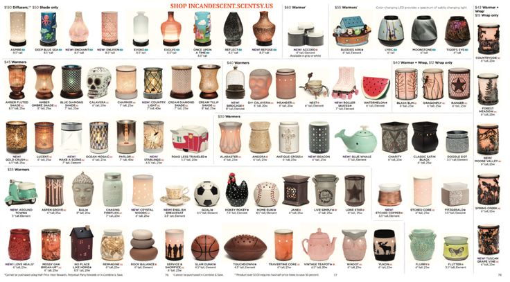 USE THE QUICK GUIDE TO VIEW THE SCENTSY PRODUCTS AVAILABLE SEPTEMBER 1, 2016 FOR THE FALL/WINTER2016 SEASON