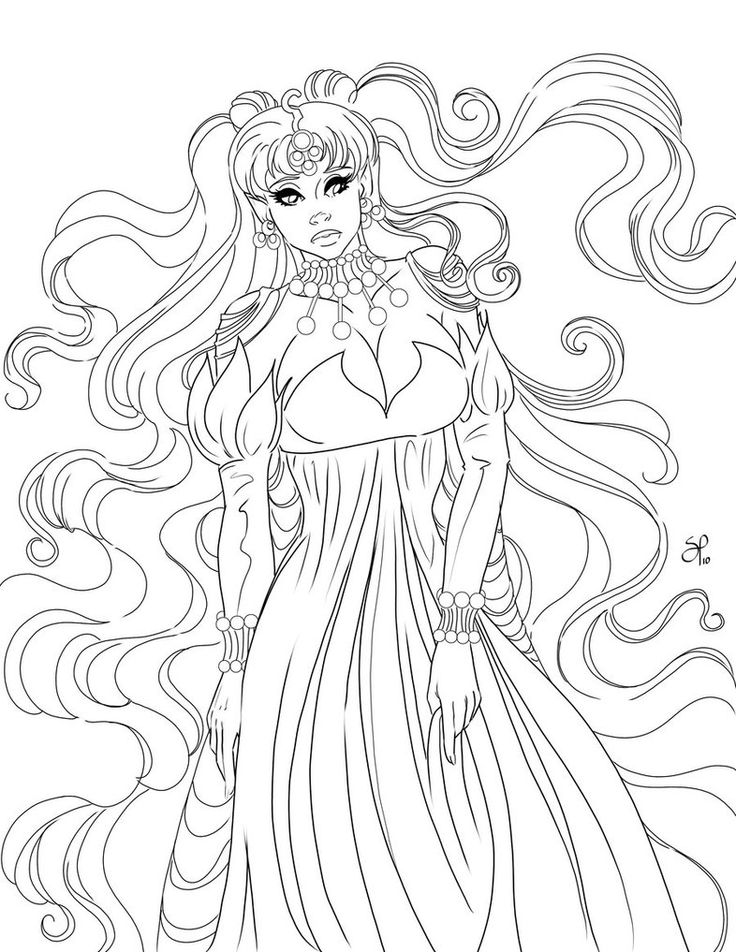 Queen Nehelenia Ink by SChappell | lineart | Pinterest
