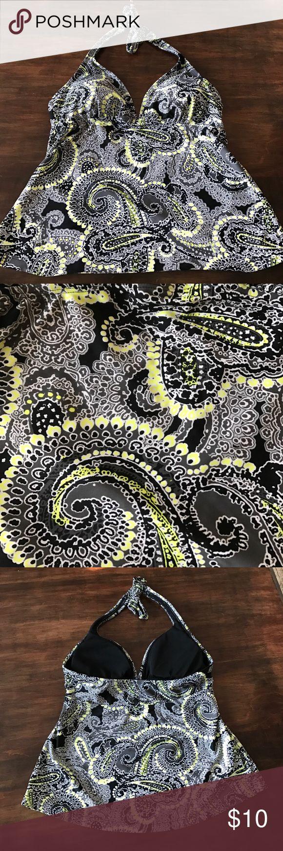Converse Swim Tankini Neon Yellow, Black, and Grey Tankini by Converse One Star. Worn once! EUC! Converse Swim Bikinis