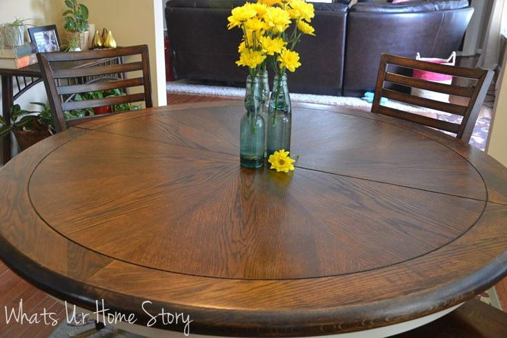 1000 images about refinishing table on pinterest for How to refinish a table with paint
