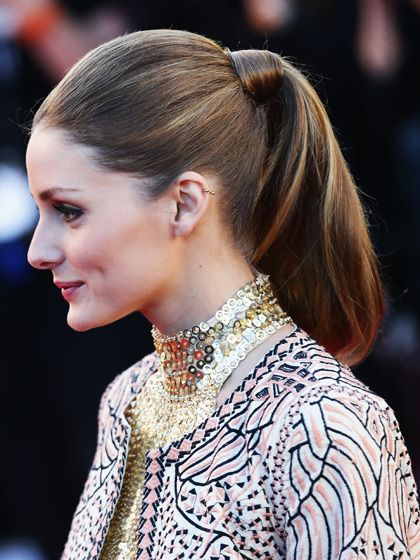 Olivia Palermo ponytail hairstyle