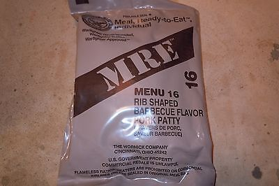 Food And Drink: Mre Menu 16 Meals Ready To Eat Rib Shaped Bbq Pork Patty -> BUY IT NOW ONLY: $8.99 on eBay!