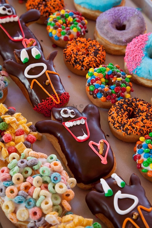 Eat Voodoo Donuts in Portland