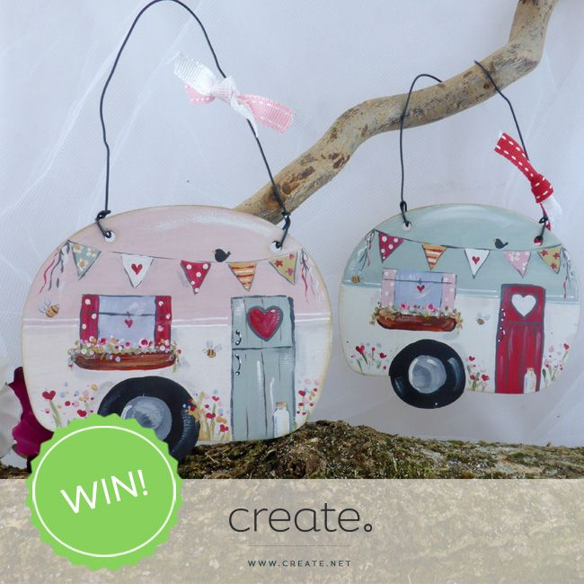#WIN this pretty #handpainted caravan dangle from Polkadot with this week's #FreebieFriday. Enter on our Facebook page: facebook.com/create