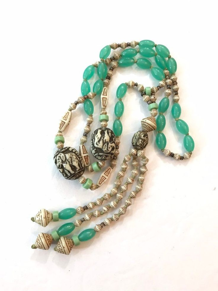 Vintage Czech Max Neiger Necklace Art Deco Egyptian