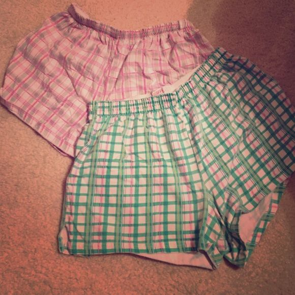 Two pairs of Soffee shorts This listing is for both pairs of shorts. Both Soffee brand and both size large. Have been worn but still have life in them! These are super comfy! Soffe Shorts