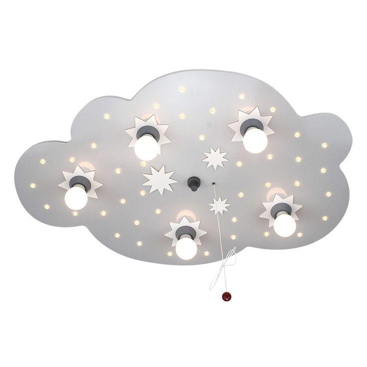 LED Schlummerlicht Sternenwolke 5er silber-weiss Deckenlampe elobra 124574 Deckenlampen