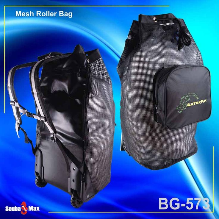 "Looking for a Roller Travel Scuba Bag---Special Deal:::  Regular $190.00 NOW only $149.95 with shipping included to Canada and the US!   Mesh Roller Bag  -Heavy-duty PVC coated Nylon mesh  -Side zipper opening  -Adjustable padded shoulder straps  -Separate front zippered compartment  -Hidden zippered back pocket for dry items  -Sturdy and tough wheels  -Top draw cord closure  -Sure grip molded handle  -Dimensions: main compartments: 30""x15""  https://www.facebook.com/groups/scubacanuck/"
