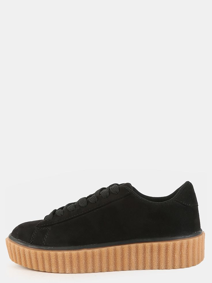 26$  Buy now - http://diaqv.justgood.pw/go.php?t=5291 - Lace Up Suede Sneakers BLACK