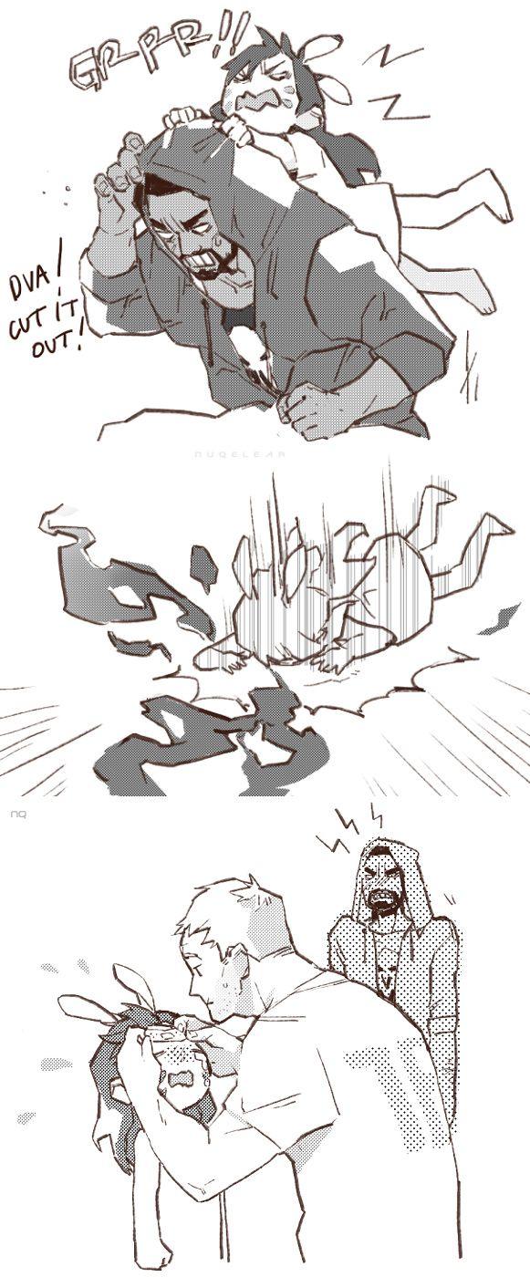 Overwatch D.va, Reaper and Soldier76