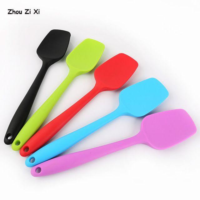 Silicone Spoon Spatula Scraper Pastry Blender Ice Cream Spoon Kitchen Utensils^