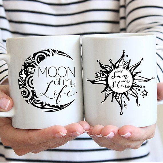 Moon of My Life, My Sun and Stars. Khaleesi & Khal Game of Thrones Coffee Mugs by JitterMug