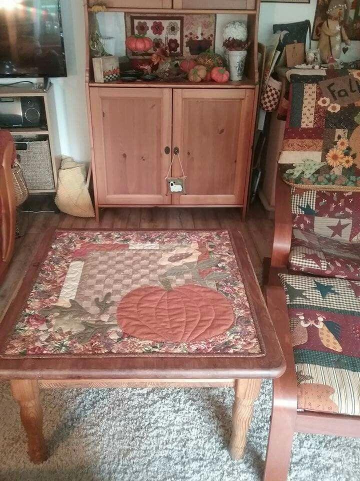 Fall quilt table runner