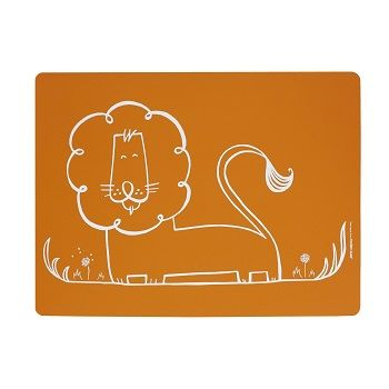 Dandy Lion Placemat Orange $22.95 #sweetcreations #baby #toddlers #kids #feeding #feedme