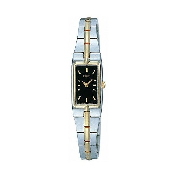 Seiko Dress Two-Tone Watch ($93) ❤ liked on Polyvore featuring jewelry, watches, quartz movement watches, seiko, slim watches, water resistant watches and two tone jewelry