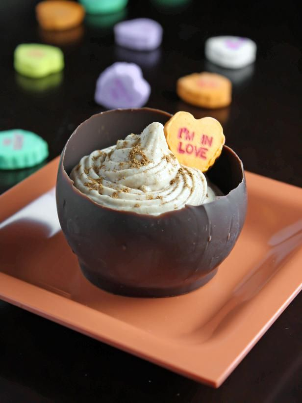 Chocolate Chai Cups Recipe  These little chocolate bowls create a showstopping dessert, and they're so easy to make. The chai whipped cream is delicious, but also try filling them with your favorite ice cream or fresh fruit