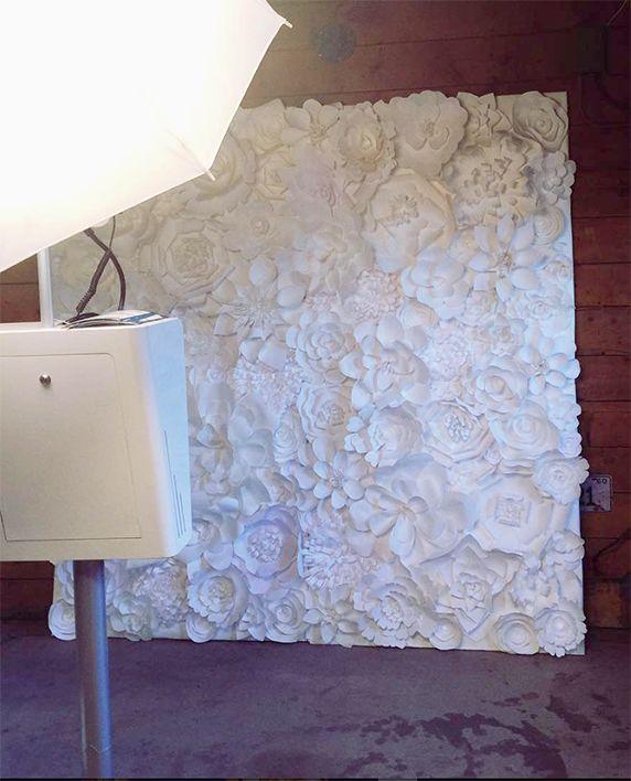 Wedding Flower Rentals: 7ft Hand Crafted Paper Flower Wall Denver, Colorado Rental