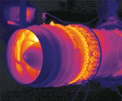 NDT Thermography to test jet engines