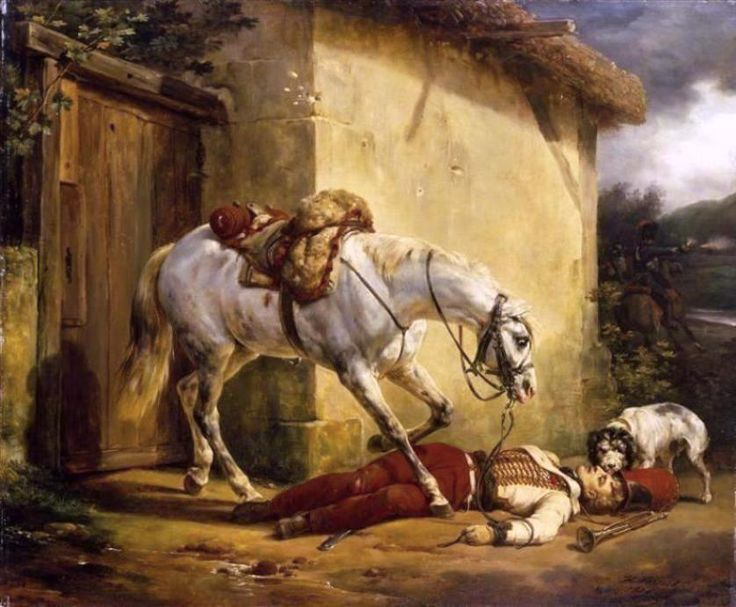 Vernet, Horace (b,1789)- Wounded Trumpter