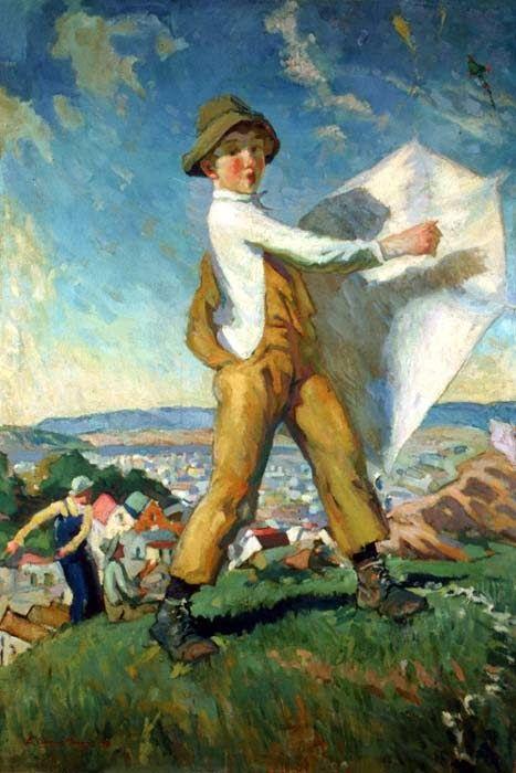 ''Boy with a kite''-Eric Macky