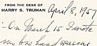 Harry Truman Looks at the Potsdam Conference Twelve Years Later: An Astonishing Appraisal of What Went Wrong