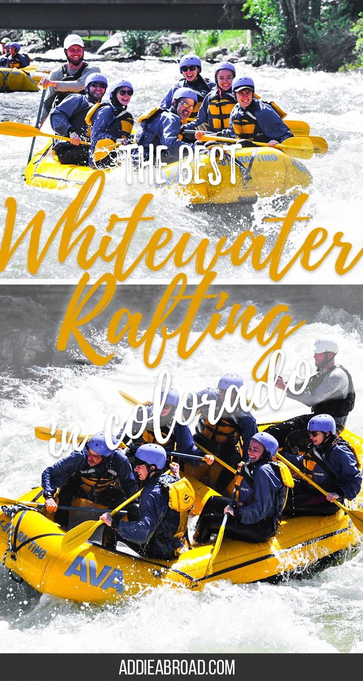 Have you ever thought about going whitewater rafting? If so, AVA in Idaho Springs, Colorado is the best place to try it out - especially if you're a bit nervous about your first time! Read my full account of my half day whitewater rafting trip in this blog post. | Where to Go Whitewater Rafting | Whitewater Rafting Colorado | What to do in Colorado | What to do in Idaho Springs