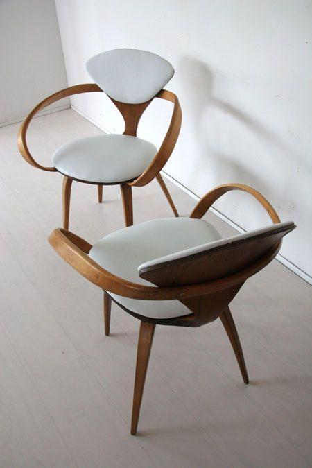 Norman Cherner Plycraft Walnut Chair