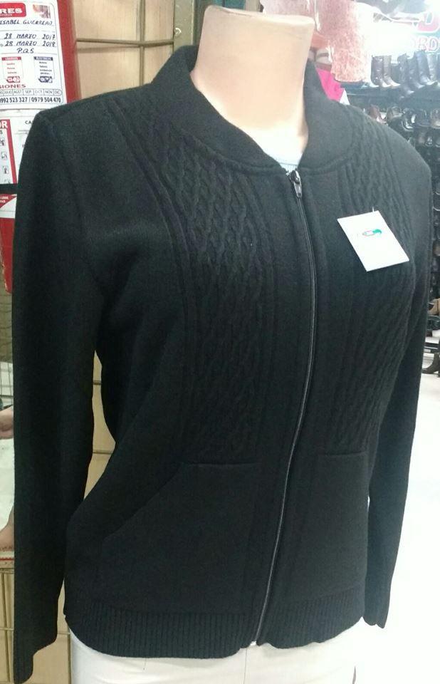 chompa mujer negro lana fashion  02cae1ac9218