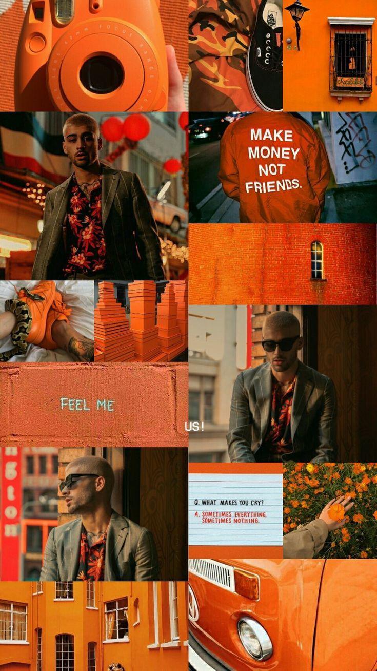 Ariri Pinterest Wallpapers Aesthetic Zayn Orange Chill