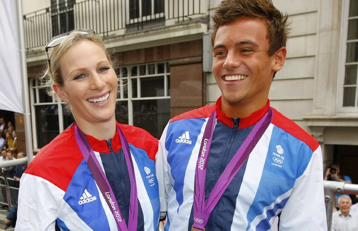 Team GB parade: Zara Phillips and Tom Daley