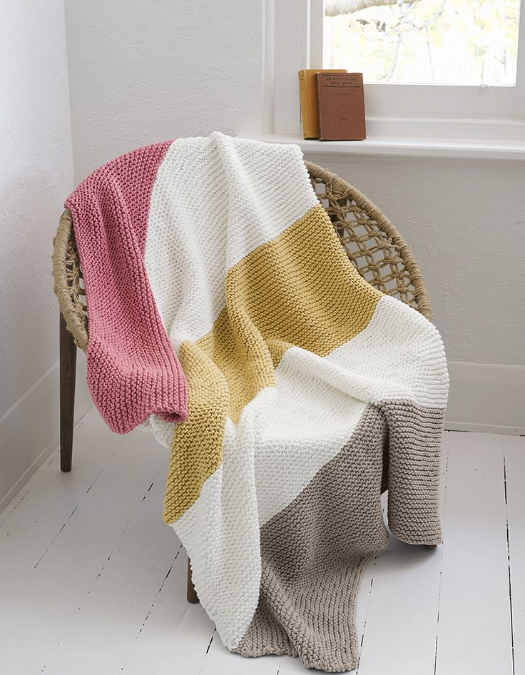 Chunky knit throw by Panda Australia