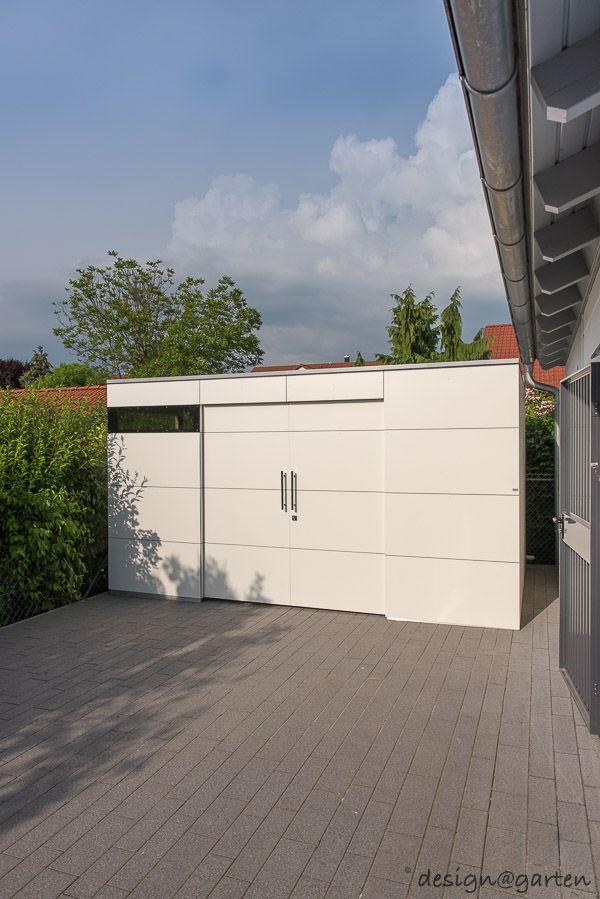 Designer Gartenhaus gart drei XXL mit DoppelSchiebetüre