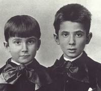 Stefan Zweig et son frère Alfred