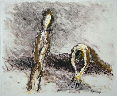 """Saatchi Online Artist Maia S Oprea; Printmaking, """"D.M.7 Monotype after Dust VIII"""" #art"""